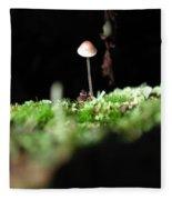 Tiny Mushroom 1 Fleece Blanket