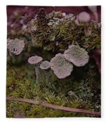Tiny Mushrooms  Fleece Blanket