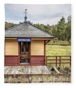 Tiny Train Station Barnet Vermont Fleece Blanket