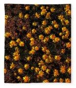 Tiny Yellow Flowrers On The Desert Floor Fleece Blanket