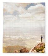 Tip Of Mt Zeehan Tasmania  Fleece Blanket