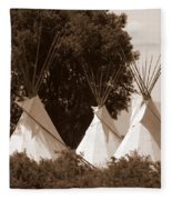 Tipis In Toppenish Fleece Blanket