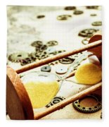 Tipping The Time Map Fleece Blanket