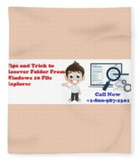 Tips And Trick To Recover Folder From Windows 10 File Explorer Fleece Blanket
