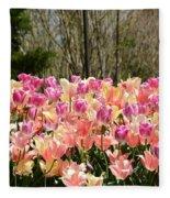Tiptoe Among The Tulips Fleece Blanket