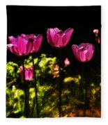 Tiptoe Through The Tulips Fleece Blanket