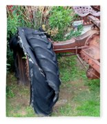 Tired Tractor Tire Fleece Blanket