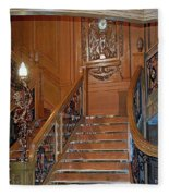 Titanics Grand Staircase Fleece Blanket