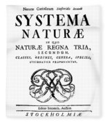 Title Page, Systema Naturae, Carl Fleece Blanket