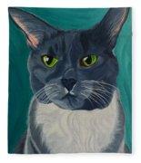 Titter, Cat Portrait Fleece Blanket