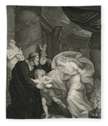 Titus's Garden. Lucius Pursued By Lavinia Fleece Blanket
