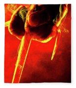 Tmnt 1   -  Raphael Smoky Red. Fleece Blanket