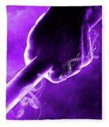 Tmnt 2   -  Donatello Smoky Purple. Fleece Blanket