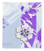 To Save A Snowflake, Portrait Orientation Fleece Blanket