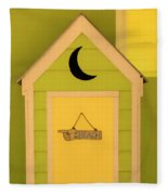 To The Beach - Decorative Outhouse And Sign Fleece Blanket