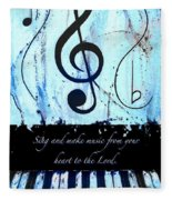 To The Lord - Blue Fleece Blanket