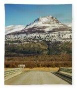 To The Mountain Fleece Blanket