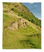 To The Top Of Arthur's Seat. Fleece Blanket