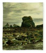 To Walk Alone Along Rocky Shores Fleece Blanket