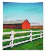 Tobacco Barns Fleece Blanket