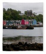 Tobermory Town Cityscape, Isle Of Mull Fleece Blanket