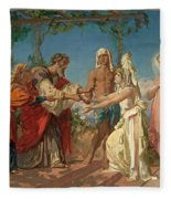 Tobias Brings His Bride Sarah To The House Of His Father Tobit Fleece Blanket