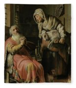 Tobit And Anna With The Kid Fleece Blanket