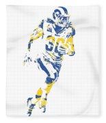 Todd Gurley Los Angeles Rams Pixel Art 30 Fleece Blanket