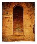 Todi Italy Medieval Door  Fleece Blanket