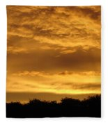Toffee Sunset 3 Fleece Blanket