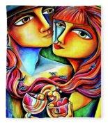 Together In Love Fleece Blanket