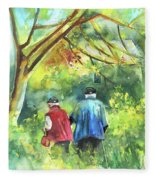 Together Old  In Italy 07 Fleece Blanket
