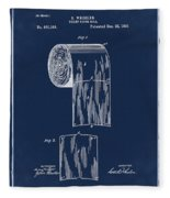 Toilet Paper Roll Patent 1891 Blue Fleece Blanket