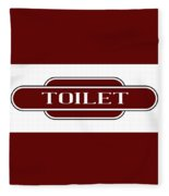 Toilet Station Name Sign Fleece Blanket
