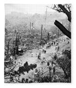 Tokyo Earthquake, 1923 Fleece Blanket
