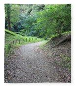 Tokyo Park Path Fleece Blanket