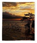 Toledo Bend Sunset Fleece Blanket