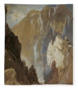 Toltec Gorge And Eva Cliff From The West, Colorado, 1892 Fleece Blanket