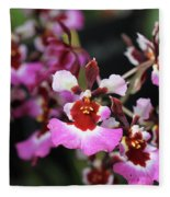 Tolumnia Pink Panther Orchid Fleece Blanket