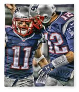 Tom Brady Art 1 Fleece Blanket