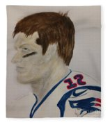Tom Brady Determined Fleece Blanket