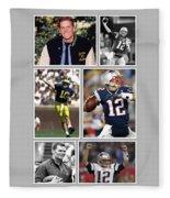 Tom Brady Football Goat Fleece Blanket
