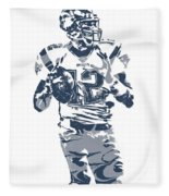 Tom Brady New England Patriots Pixel Art 10 Fleece Blanket