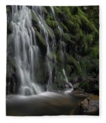 Tom Gill Waterfall, Cumbria, England Fleece Blanket