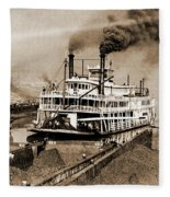 Tom Greene River Boat Fleece Blanket