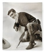 Tom Mix (1880-1944) Fleece Blanket