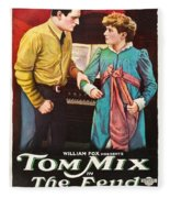 Tom Mix In The Feud 1919 Fleece Blanket