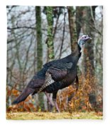 Tom Turkey Early Moning 1 Fleece Blanket