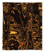 Tomatillo Abstract #2 Fleece Blanket