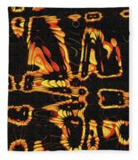 Tomatillo Abstract Fleece Blanket
